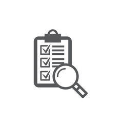 evaluation icon on white background vector image