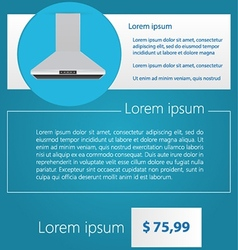Flat minimalist template business design Kitchen vector