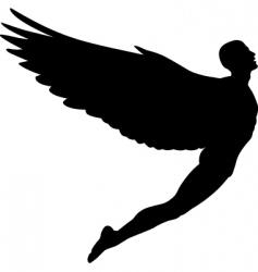 Flying man vector