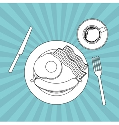 Food and restaurant design vector image