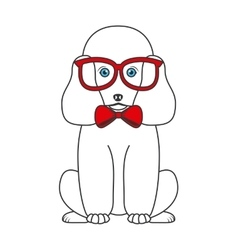 french poodle design vector image