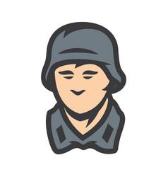 german soldier sign vector image