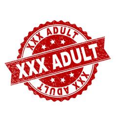 grunge textured xxx adult stamp seal vector image
