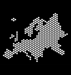 Hex tile europe map vector