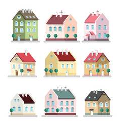 house icon houses symbols building flat design vector image