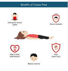 Infographics of yoga pose infographics of yoga vector
