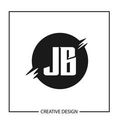 Initial letter jb logo template design vector