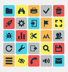 Interface icons set collection of dossier people vector