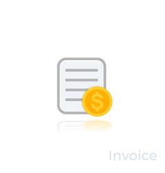 Invoice icon on white vector