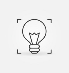 light bulb outline icon idea and startup vector image