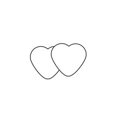 live hearts linear icon vector image