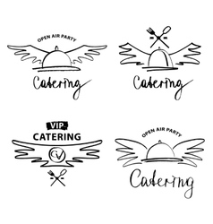 Logo for catering restaurant cafe Open air vector