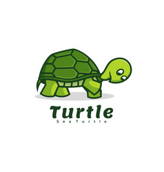 Logo turtle simple mascot style vector