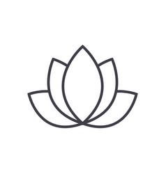 lotusindia line icon sign vector image