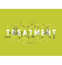 Medicine concept design treatment vector image