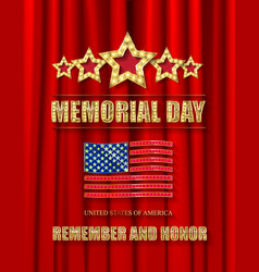 Memorial day greeting card vector
