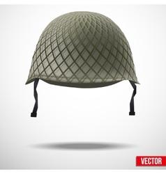 Military classic helmet vector image