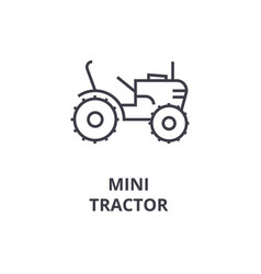 mini tractor line icon sign vector image