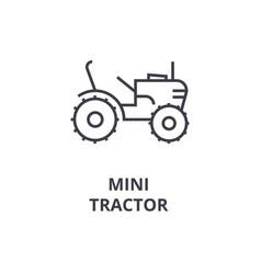 Mini tractor line icon sign vector