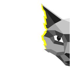 Modern creative cat in low vector
