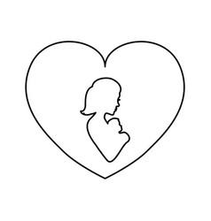 moms love design vector image