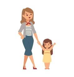 Mother and daughter vector image