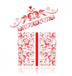 ogift box vector image vector image