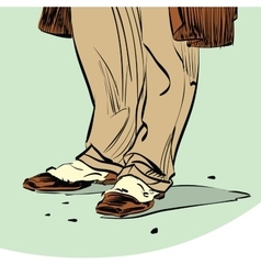 Old fashion Hipster man shoes vector