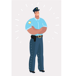 police officer standing vector image