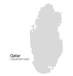 Qatar map icon qatar country world vector
