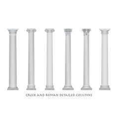realistic ancient greek rome column vector image
