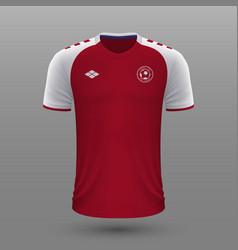 Realistic soccer shirt 2020 denmark home jersey vector