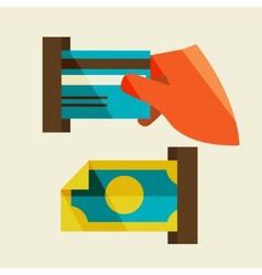 Receipt of money vector