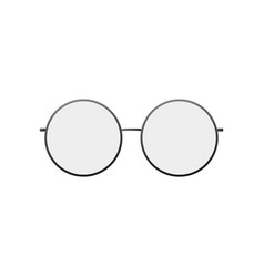 round glasses icon silhouette glasses vector image