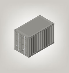 sea container isometric vector image