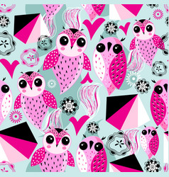 seamless abstract pattern unusual graphic love vector image