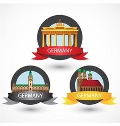 Set of most Famous German Landmarks High detailed vector