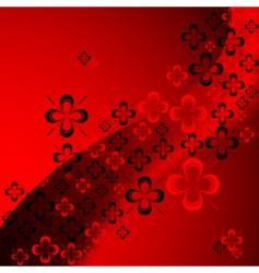 shamrock abstract pattern vector image
