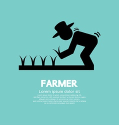 Sign Of Farmer vector