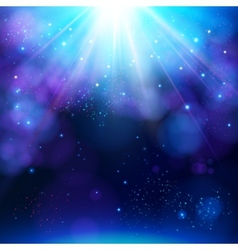 Sparkling blue festive star burst background vector
