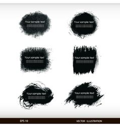 Splash banners set vector