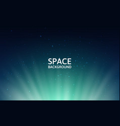 starry sky and northern lights space background vector image