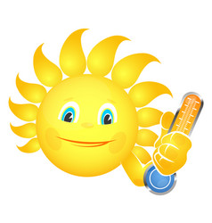 Sun and thermometer vector