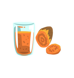 Sweet potato potato vegetable juice glass of vector