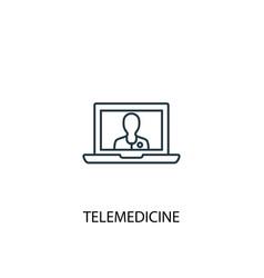 Telemedicine concept line icon simple element vector