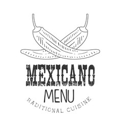 Traditional restaurant mexican food menu promo vector