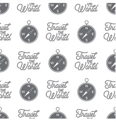 travel compass seamless background vector image