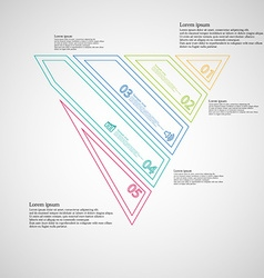 Triangle infographic template created by five vector