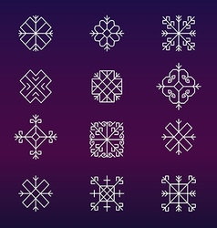 Variations of the ancient Latvian sun sign vector image