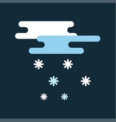 weather snowflake icon weather vector image